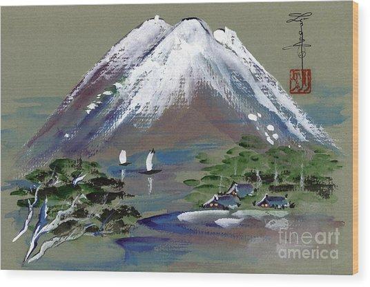 Fuji Wood Print by Linda Smith