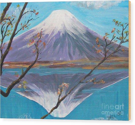 Fuji San Wood Print by Yael Eylat-Tanaka