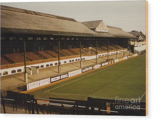 Fulham - Craven Cottage - East Stand Stevenage Road 2 - Leitch - August 1986 Wood Print