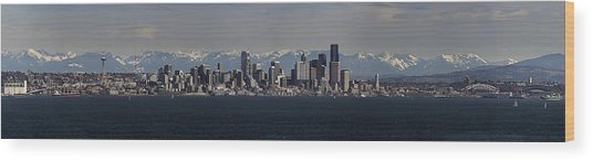Full Frontal Seattle Wood Print