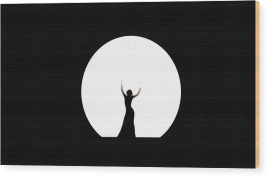 Full Moon Dance Wood Print