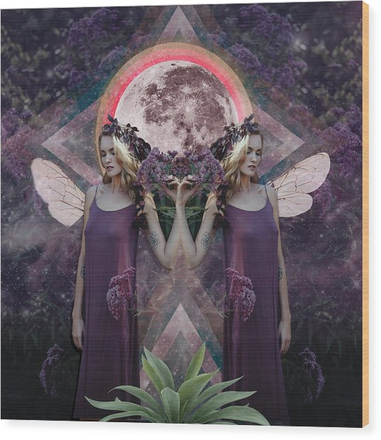 Full Moon In Gemini Wood Print