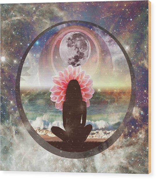 Full Moon Meditation  Wood Print
