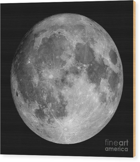 Wood Print featuring the photograph Full Moon by Roth Ritter