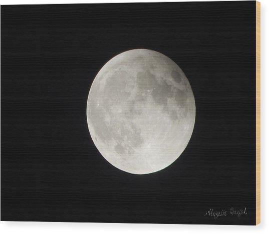 Full Planet Moon Wood Print