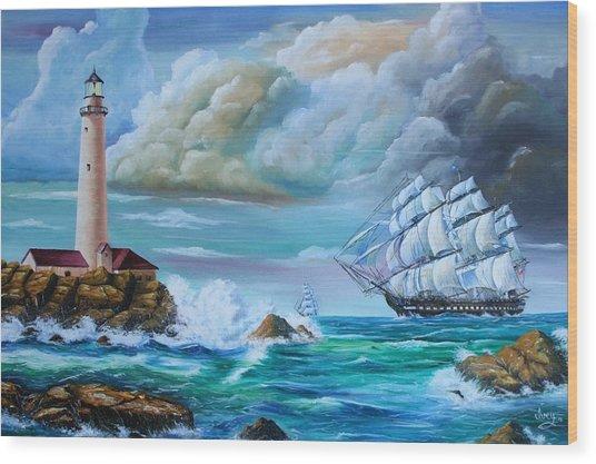 Full Sail Wood Print
