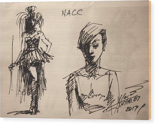 Fun At Art Of Fashion At Nacc 1 Wood Print