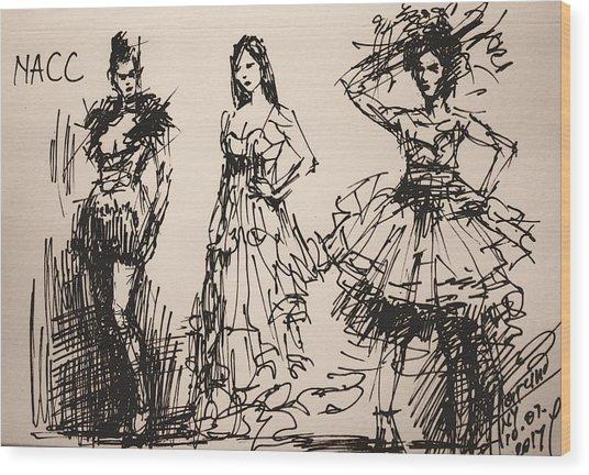 Fun At Art Of Fashion At Nacc 3 Wood Print