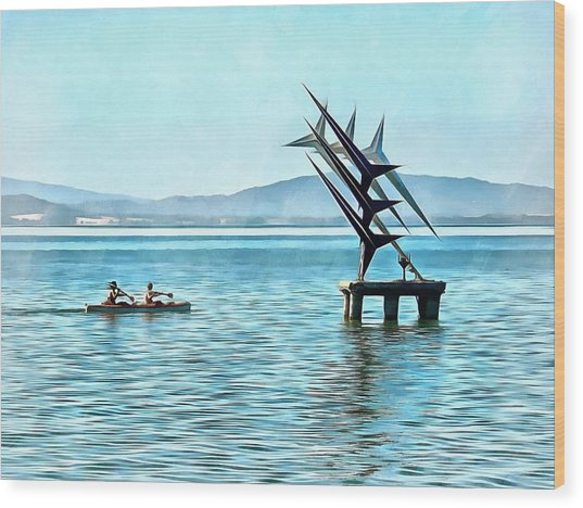 Fun In The Sun At Lago Trasimeno Wood Print by Dorothy Berry-Lound