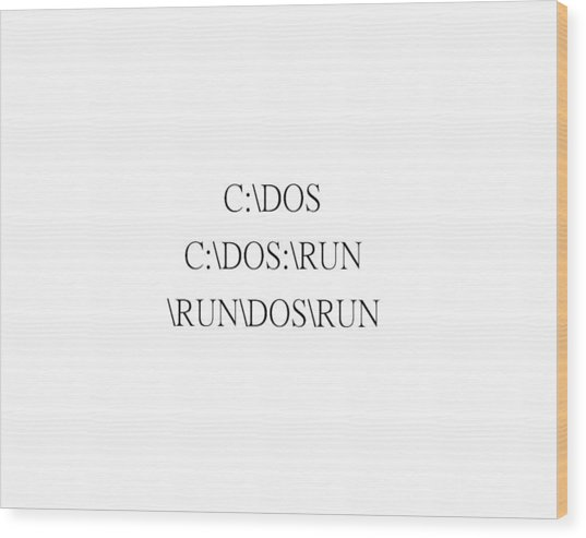 Funny Dos Wood Print