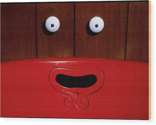 Funny Face Wood Print