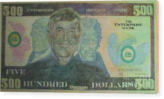 Funny Money Wood Print