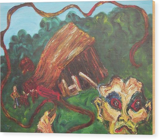 Furious Father Wood Print by Suzanne  Marie Leclair
