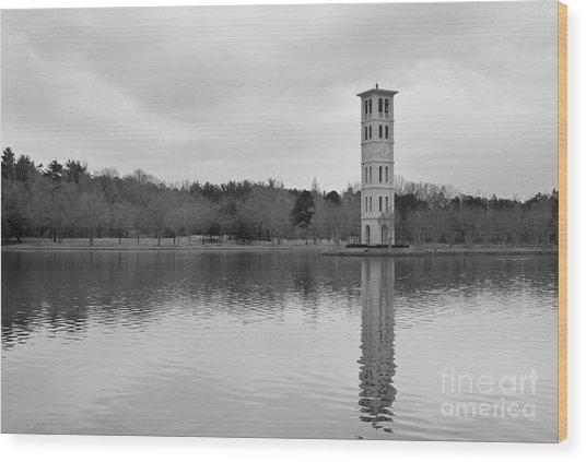 Furman Bell Tower 4 Bw Wood Print