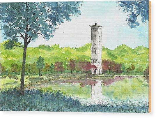 Furman Bell Tower Two Wood Print