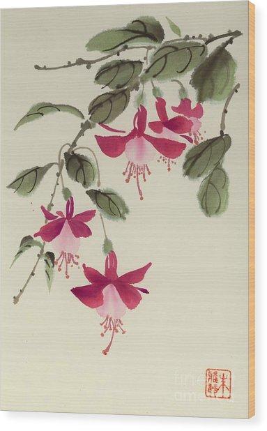 Fuschia Pink Wood Print
