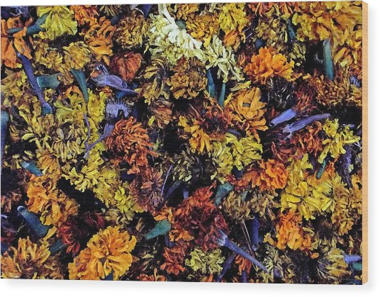 Future Marigolds Wood Print