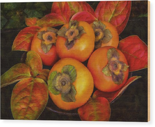 Fuyu Persimmons Wood Print