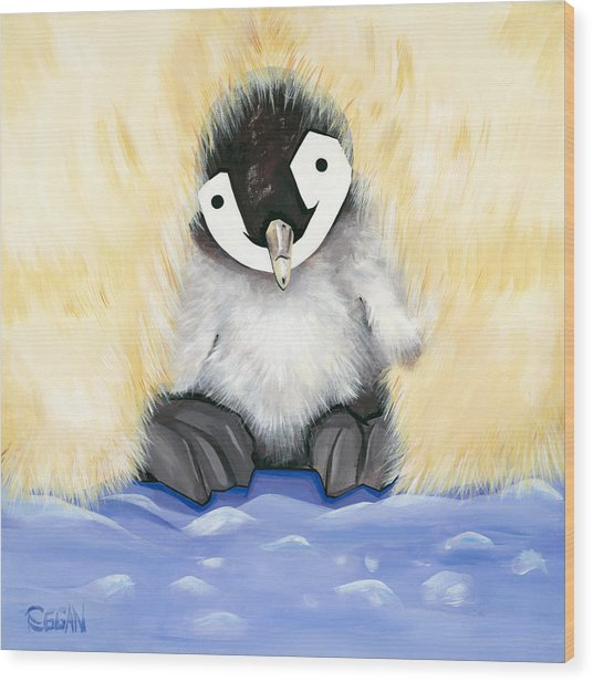 Fuzzy Baby Wood Print by Michelle  Eggan