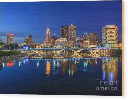 Fx2l531 Columbus Ohio Skyline Photo Wood Print