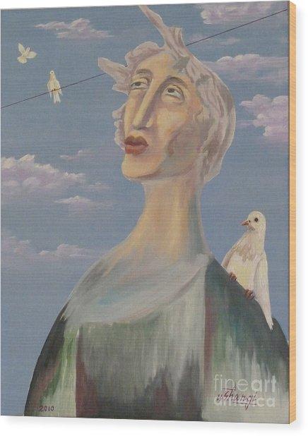 Fyodor Wood Print by Ushangi Kumelashvili