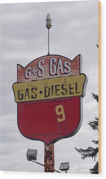 G - S Gas - Sorry We Are Closed Wood Print