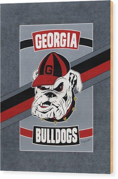 Bulldogs Poster T-shirt Wood Print