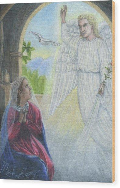 Gabriel's Revelation Wood Print