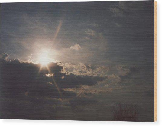 Gahanna Sky Ohio Wood Print by Gene Linder