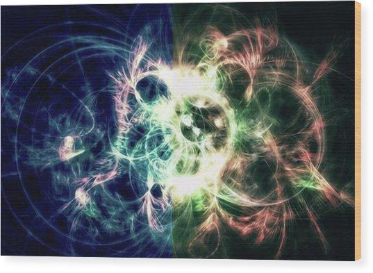 Gaia Awake #art #abstract #digitalart Wood Print by Michal Dunaj