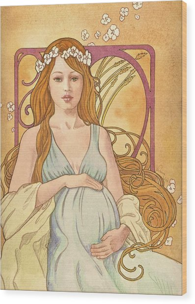 Gaia Reverie Wood Print