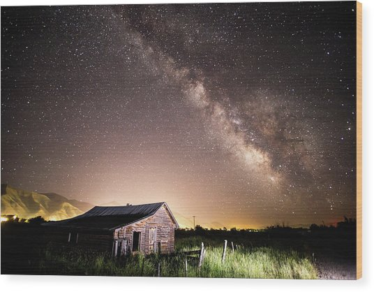 Wood Print featuring the photograph Galaxy In Star Valley by Wesley Aston