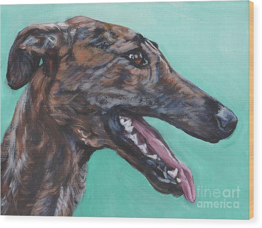 Galgo Espanol Spanish Greyhound Wood Print