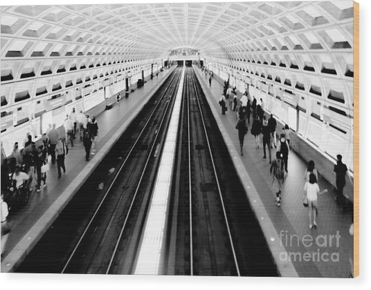 Gallery Place Metro Wood Print