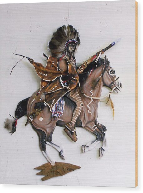 Galloping Along Wood Print by Lilly King