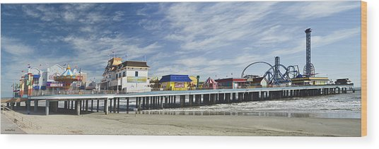 Galveston Pleasure Pier Wood Print
