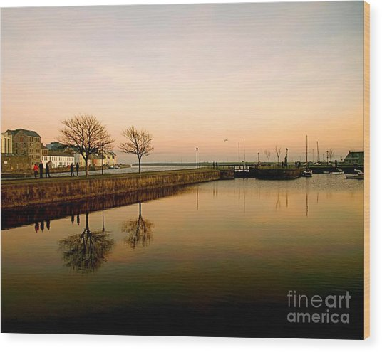Galway Bay Sunset Wood Print
