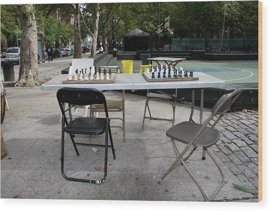 Game Of Chess Anyone Wood Print