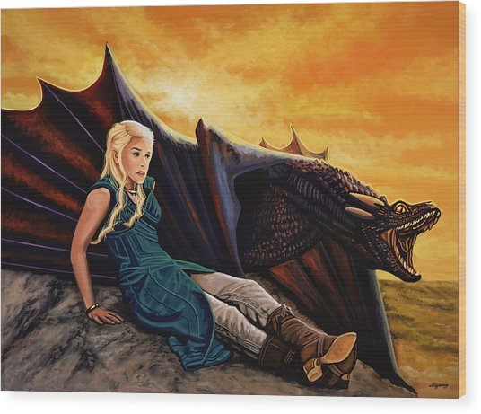 Game Of Thrones Painting Wood Print