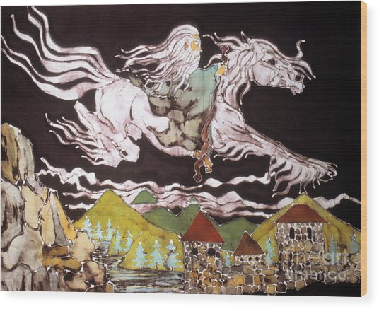 Gandalf And Shadowfax Wood Print