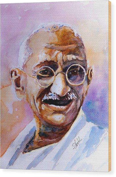 Gandhi Wood Print