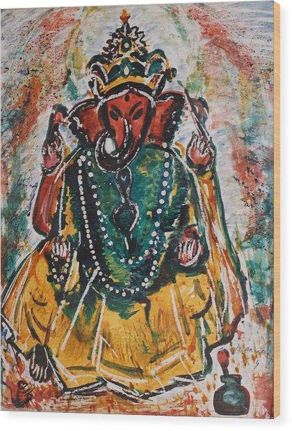 Ganesha-2 Wood Print