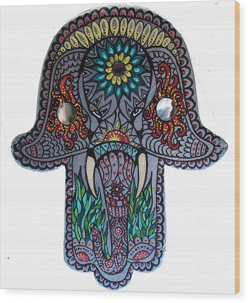 Ganesha Hamsa Wood Print