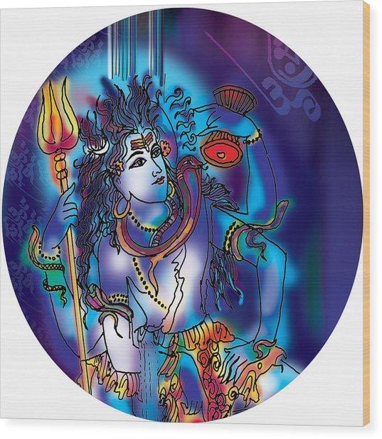 Gangeshvar Shiva Wood Print