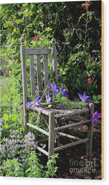 Garden Chair Wood Print