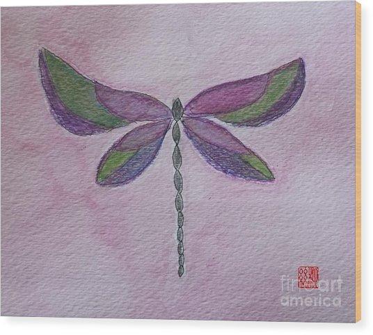Garden Dragonfly Wood Print