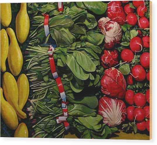 Garden Fresh Wood Print by Doug Strickland