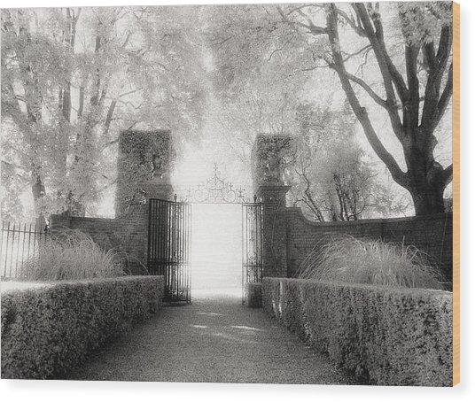 Garden Gate Wood Print by Michael Hudson