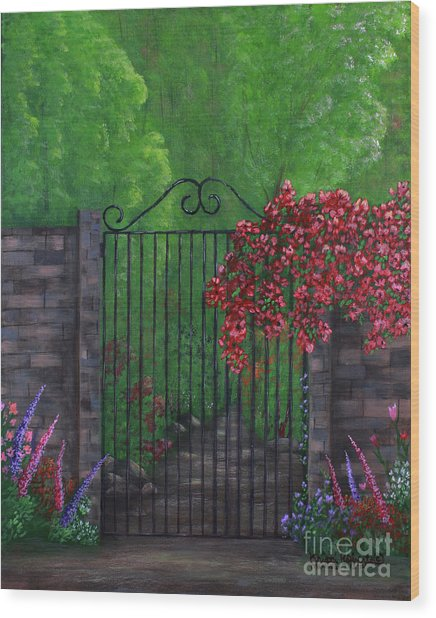 Garden Gateway Wood Print