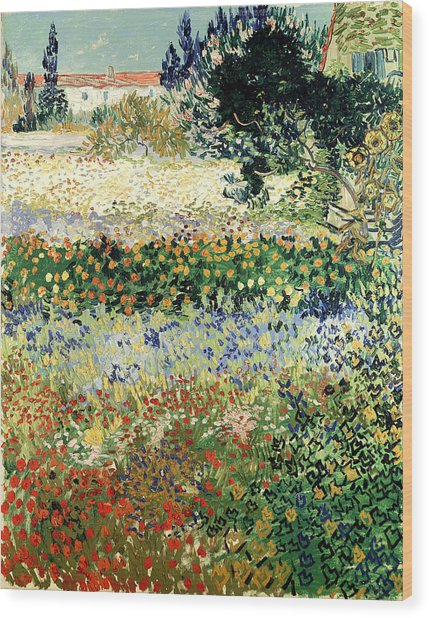 Wood Print featuring the painting Garden In Bloom by Van Gogh